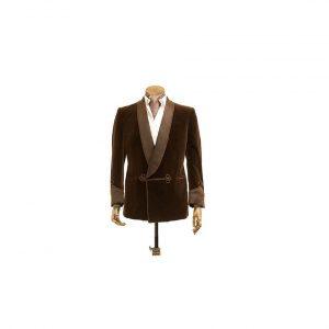 Velvet Suit Slim Smoking Jacket Men