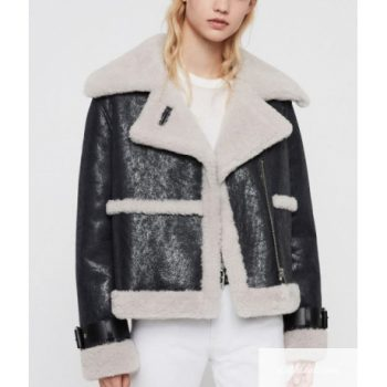 Arlo Shearling Leather Jacket For Woman's