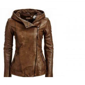 Arrow Women Brown Leather Jacket