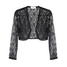 Black Carolina Herrera lace bolero jacket