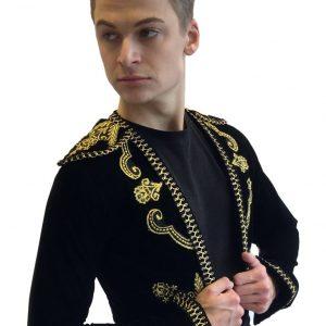 Black Embroidered Bolero Jacket