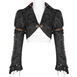 Black and Brown Steampunk Bolero Jacket
