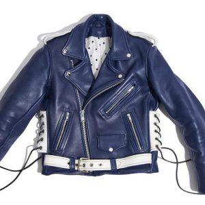 Blue Zipper Custom Leather Jackets