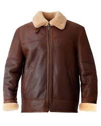 Brown Men's Aviator Jacket