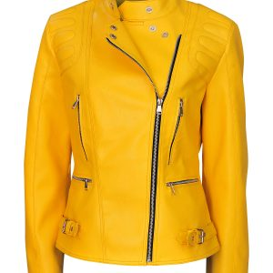 Classic Style Yellow Jacket For Women