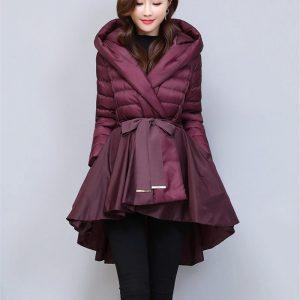 Short Cotton Coat Pleated Skirt Jacket