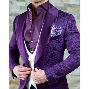 Italian Design Custom Jacquard Smoking Jacket