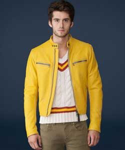Genuine Men's Yellow Leather Jackets