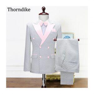 New Thorndike Custom Made Groom Tuxedos Smoking Jacket