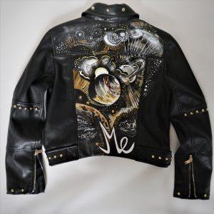 Hand-painted Custom Leather jacket