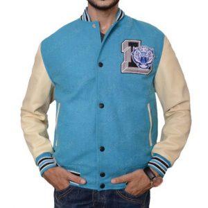 High Tiger Baseball Blue Jacket