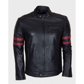 Men's Black Retro Cafe Racer Jacket