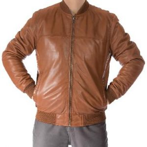 Mens Classic Zipped Leather Jackets
