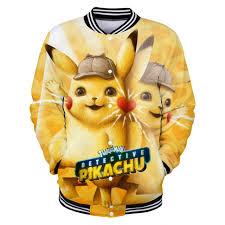 Pokemon Detective Pikachu 3D Printed Baseball Jackets