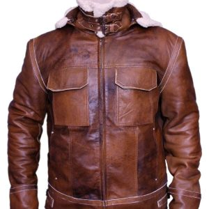 Real Leather Aviator Jacket