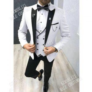Custom Made Slim Fit Wedding Smoking Jacket