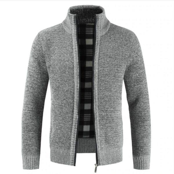 Harrington Collar Zipper Cotton Thick Warm Jacket Men