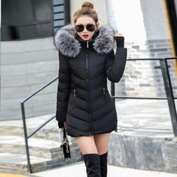 Sherpa High Quality Parkas Outwear Women Long Jacket