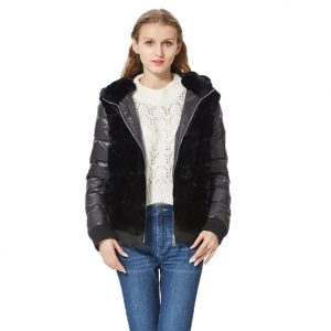 Bomber Real Fur with down fur coat Jacket