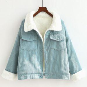 Bomber Warm Long Sleeve Casual Jean Jacket