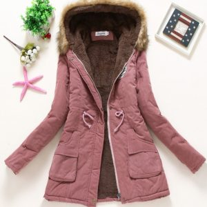 Parka Casual Outwear Military fur Down Jackets