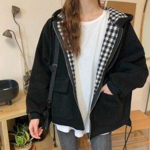 Bomber Casual Ins Loose Oversize Streetwear Jacket