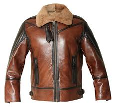 Shearling Aviator Distressed Jacket