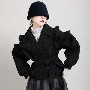 Skirts Loose Stylish Ruffle Decorate Outwear Jacket