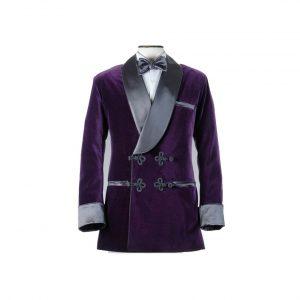 Velvet Slim Fit Groom Tuxedo Smoking Jacket
