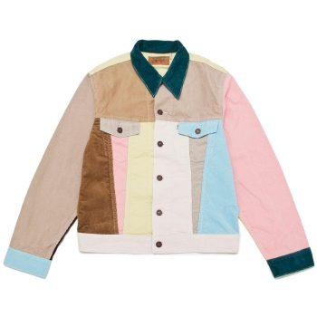 Vintage Clothing Colour Blocked Corduroy Jacket