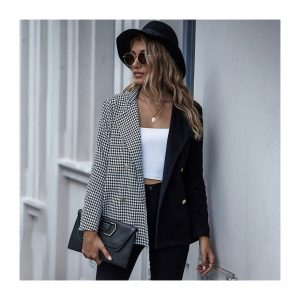 Tweed Plaid Blazers Jackets