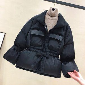Basic Thick Warm Lantern Sleeve Skirts Jackets