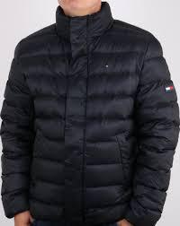 black Tommy Hilfiger hooded Jacket