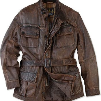 Barbour Vintage International Leather Jacket