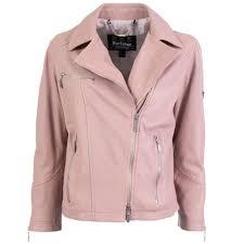 Barbour Women International Triple Leather Jacket in Pink