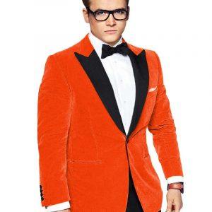 Kingsman Orange Tuxedo Jecket