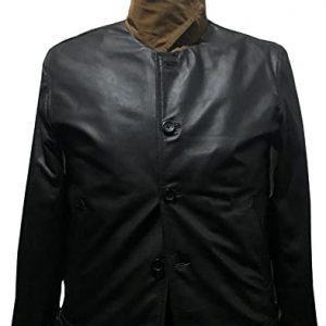 Men's Kingsman Black Real Leather Jacket