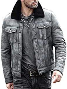 Shearling flight Aviator Winter fur leather Jacket