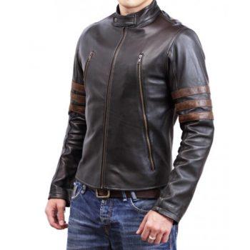 X Men Zip Leather Jacket