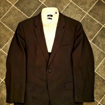 Hugo Boss rider Blazer Jacket Black Virgin Wool 2 Button Size UK 46 EU 56