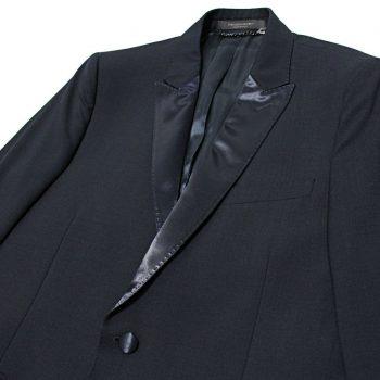 $886 Italy MESSAGERIE Navy Satin-Lapel Tuxedo Blazer Jacket Large 50-IT 40-US