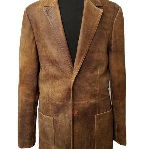 Men's Jarpey Leather Jacket Blazer Size 42 Chest Medium