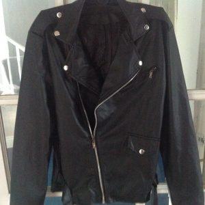 Leather look biker jacket size M