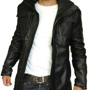 Leather Jacket Motorcycle Black Men Genuine Lambskin Slim Fit Biker Size S M L