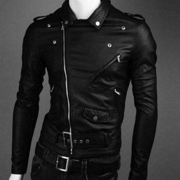 Men's Real Lambskin Biker Leather Jacket Fit Biker Jacket With Bomber Style CoatMen's Real Lambskin Biker Leather Jacket Fit Biker Jacket With Bomber Style Coat