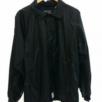 Descendant Nylon Jacket Black Coach Both Sleeves Neck White