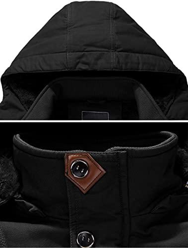 TACVASEN Men's Jacket-Casual Jacket Thicken Hooded