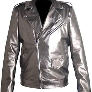 X Men Peters (Quick) Silver Faux Leather Jacket