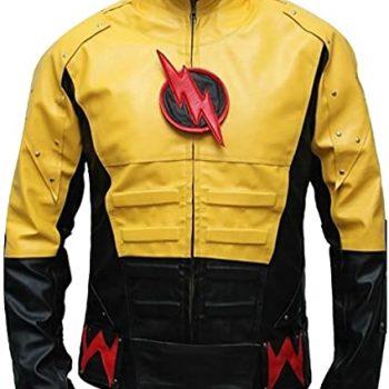 Batman Men Fashion Reverse Flash Leather Jacket