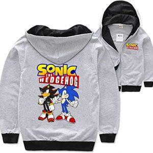 Sonic The Hedgehog Long Sleeve Hoodie Zipper Jacket
